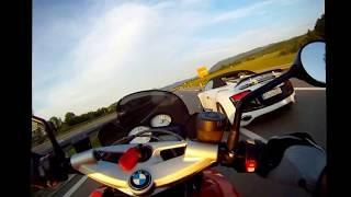 Bmw K1300 R vs Audi R8 Incredible!!!!!!!!!!!!!!!!!