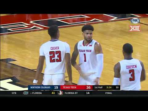 Northern Colorado vs Texas Tech Men's Basketball Highlights