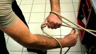 закрепление веревки за конструкцию-способ 2