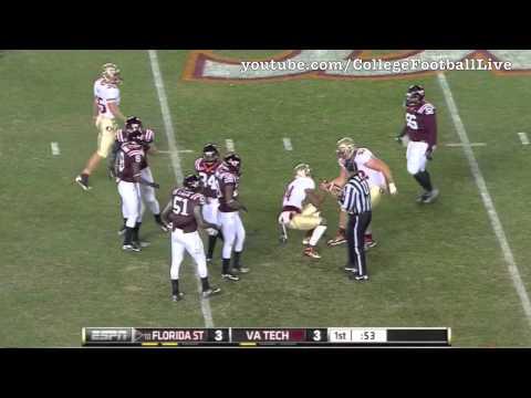 Florida State QB EJ Manuel vs Virginia Tech ᴴᴰ