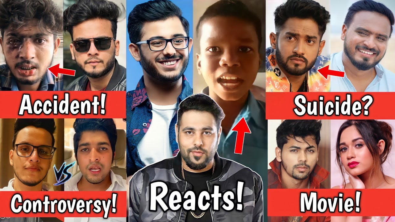 Youtuber Accident & Elvish Yadav! Badshah Bachpan Ka Pyar & Carryminati, Amit Bhadana, Jannat Zubair