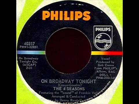 Four Seasons - On Broadway Tonight, Mono 1965 Philips 45 record.