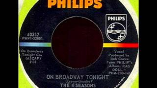 Four Seasons - On Broadway Tonight, Mono 1965 Philips 45 record.