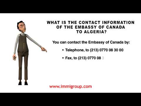 What Is The Contact Information Of The Embassy Of Canada To Algeria?