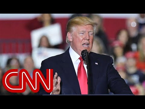 Trump rips media at campaign-style rally in Michigan