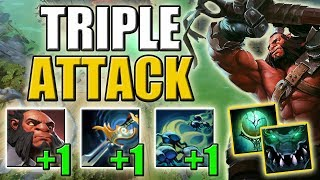 1 Click = Triple Attack. Axe with Atrophy Aura + Natural Order [Double Rampage] Dota 2 Ability Draft