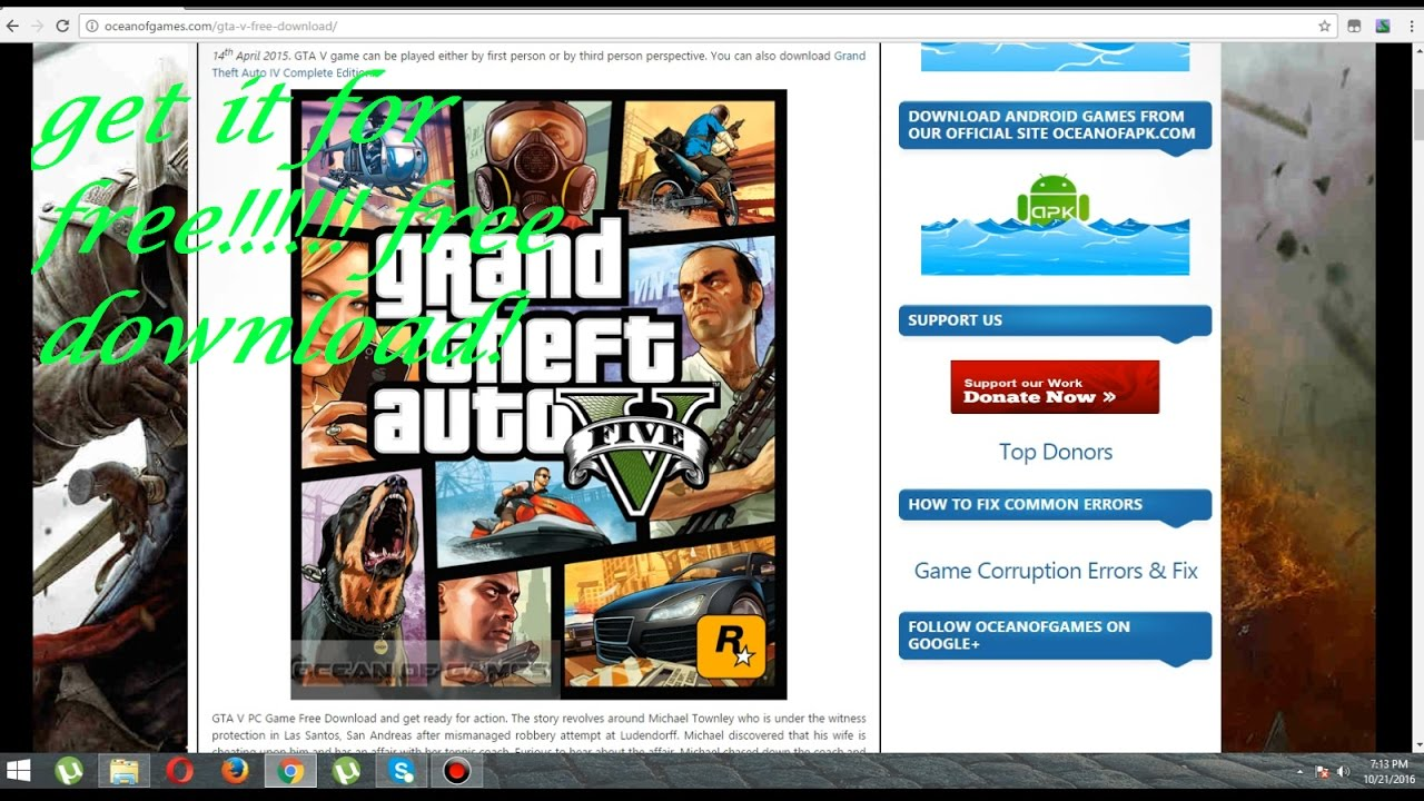 How to download gta v for free with ocean of games youtube how to download gta v for free with ocean of games stopboris Gallery