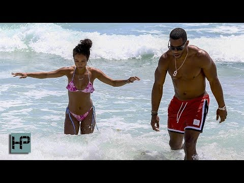 Karrueche Tran and Victor Cruz Hit Miami Beach... and NOBODY is Complaining