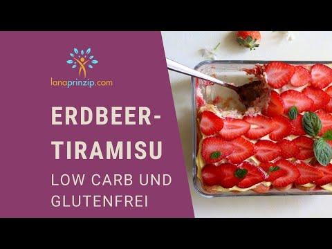 Erbeer-Vanille-Tiramisu (Low Carb und Glutenfrei)