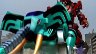 Power Rangers Jungle Fury - Elephant Beast Zord First Scene (Way of the Master Episode)