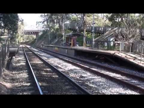 Mitcham to Pinera Station Belair Rail Line Adelaide choke point case for Bye-pass Video 2014?