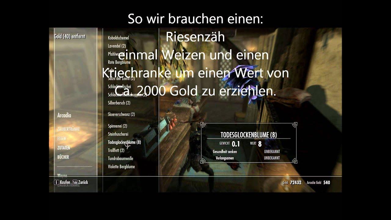 Skyrim Guide Schnell Alchemie auf 100[German] - YouTube