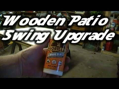 Wooden Patio Swing 1