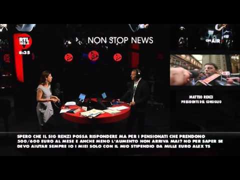 Matteo Renzi su RTL 102