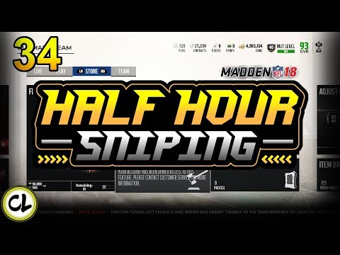 I Got Banned by EA! What happened?! Making Coins in Madden 18 Ultimate Team - Half Hour Sniping