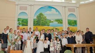 Радион и Марина. Христианская свадьба в Ольшанах (Беларусь).