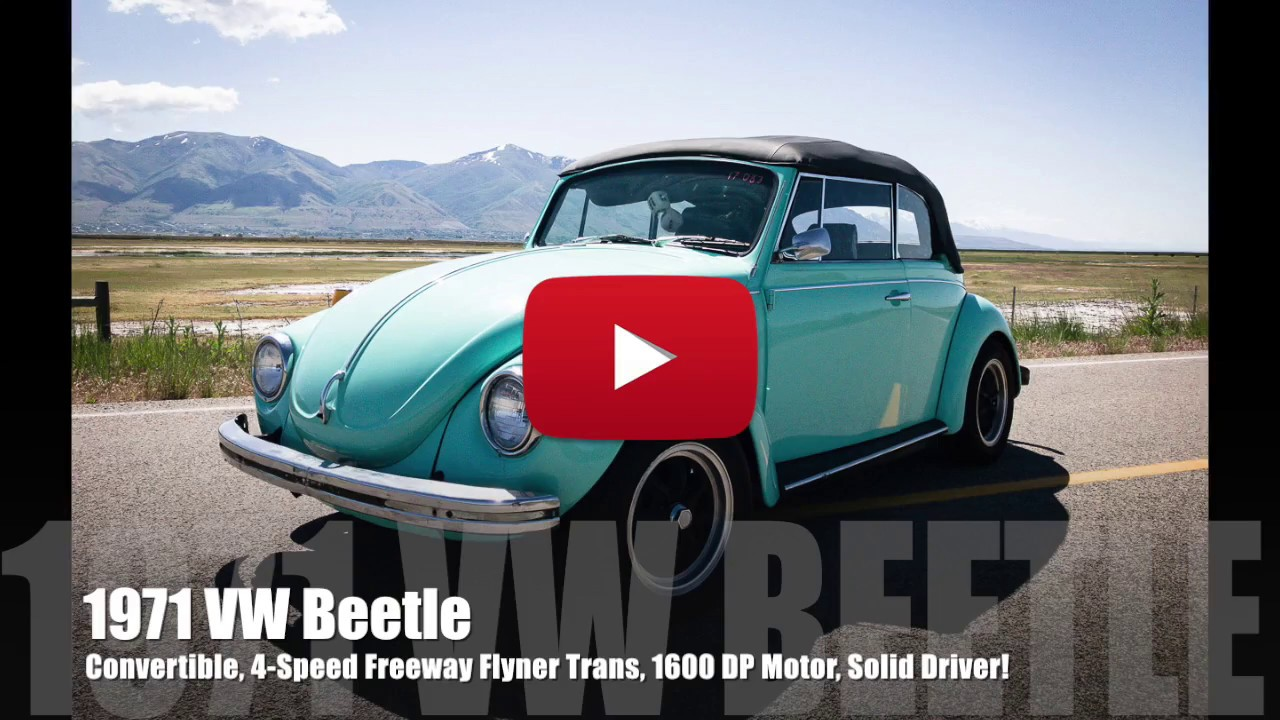 1971 VW Beetle Convertible, 1600 DP Motor, 4-Speed Freeway ...