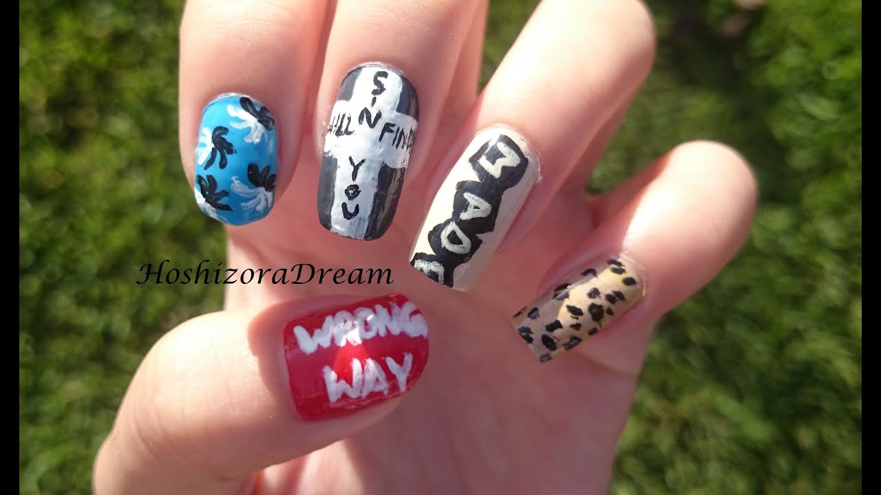 Bigbang loser nail art youtube prinsesfo Image collections