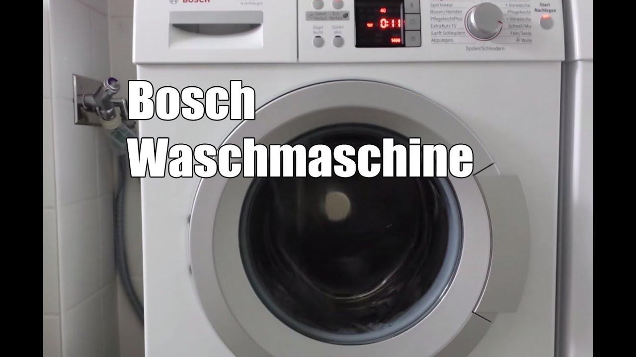 Bosch waq284a1 waschmaschine test youtube