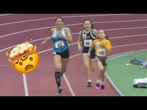 8-Year-Old Wins Women's 400m Race!