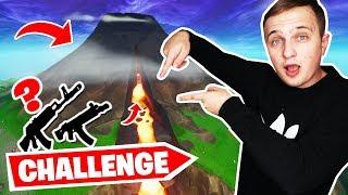 TYLKO LOT Z WULKANU CHALLENGE!  | Fortnite Battle Royale