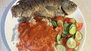 Жареный карась с гарниром/ Жареная рыба(, 2016-05-18T17:19:41.000Z)