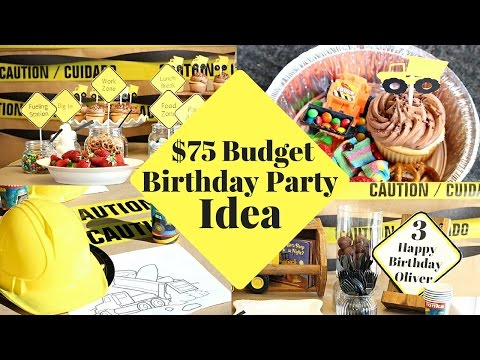 DIY Party Ideas For Boys | Construction Zone Boys Party