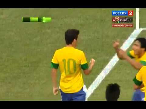Argentina vs Brazil 4-3 Oscar GOAL Goals & Highlights Lionel Messi hat-trick ! 09.06.2012