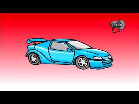 Sports car engine sound effect