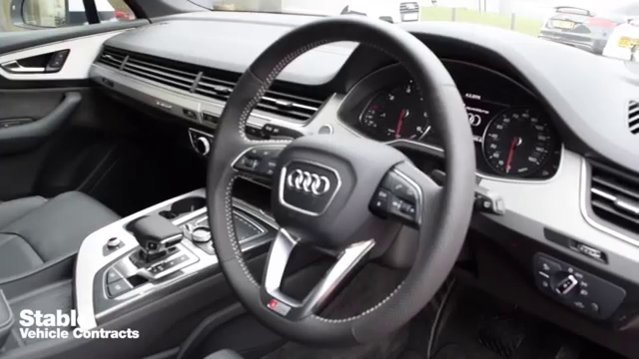 2016 Audi Q7 S Line Interior Walkaround Youtube