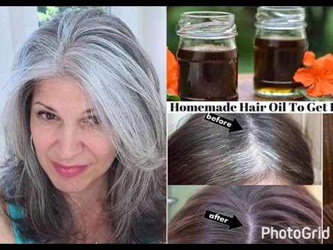 ग्रे हेल रिएमेस Change White Hair To Black Hair Naturally /S