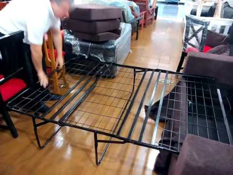 Sof cama de estructura met lica youtube for Futon sofa cama plegable