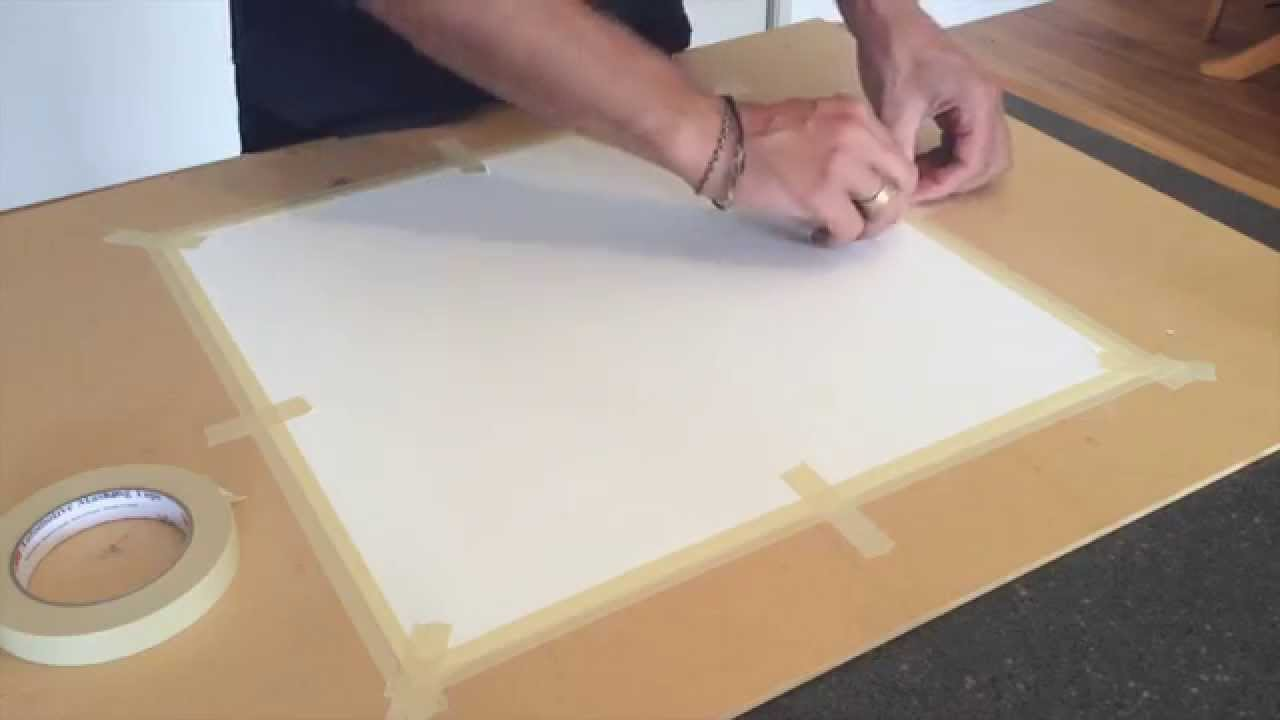 how to stretch canvas with tape youtube. Black Bedroom Furniture Sets. Home Design Ideas