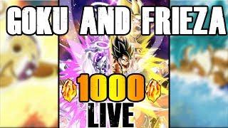 LR GOKU AND FRIEZA BANNERS ARE LIVE!!! 1000 STONE LIVESTREAM!| DRAGON BALL Z DOKKAN BATTLE