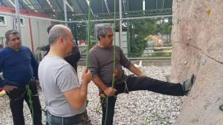 tırmanış ve iniş eğitimi... düğüm teknikleri... eğitimi... film 1