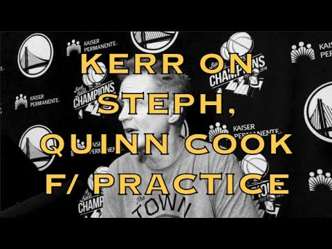 STEVE KERR on Steph's injury (strained groin) and Quinn Cook's role in Curry's absence + MORE
