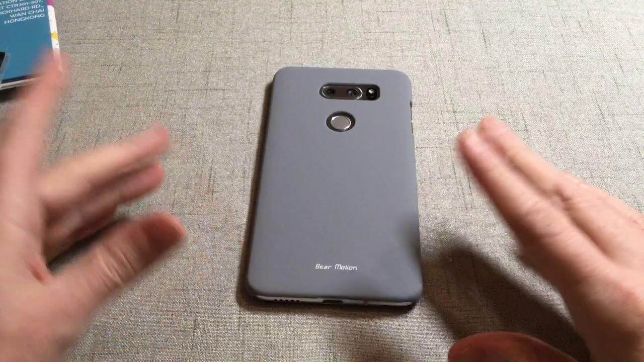 half off 61ff9 f2536 Bear Motion Premium Slim Back Cover for LG V30