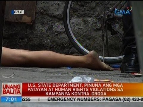 U.S. state department, pinuna ang mga patayan at human rights violations sa kampanya kontra-droga