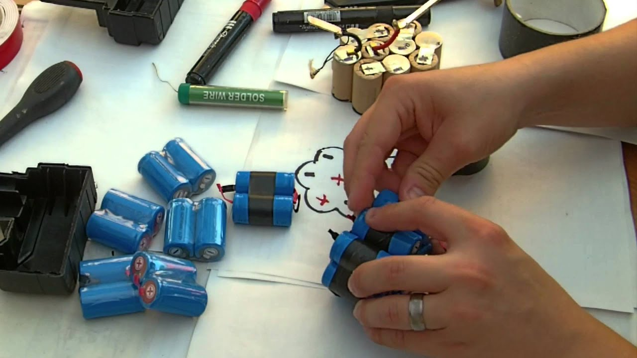 cordless drill battery pack diy upgrade rebuild sealed no