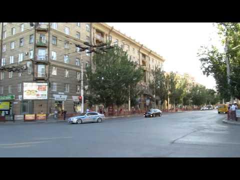 Кортеж Путина в Волгограде