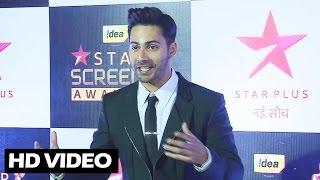 Dashing Varun Dhawan At Star Screen Awards 2016