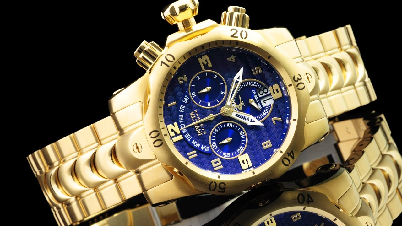 b8b0aa88e Invicta 17635 52mm Reserve Venom Quartz Chronograph 18kt Gold Plated  Bracelet Watch