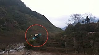 UFO flying along a river in China (CGI)