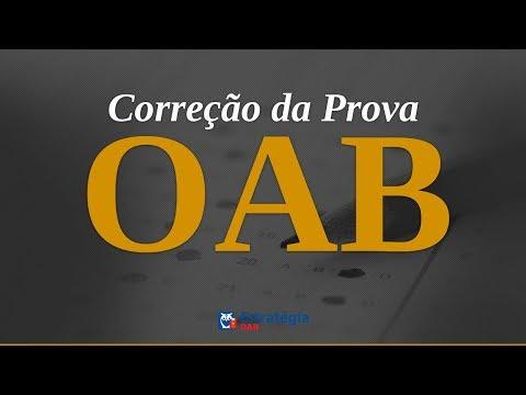 Correção da Prova OAB | Ao vivo