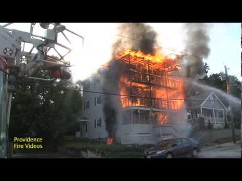 3 decker engulfed in flames in Blackstone, Ma