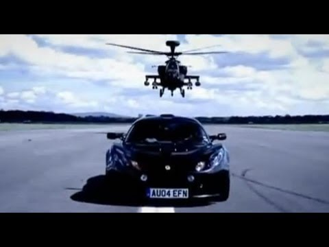 Lotus Exige Review With Apache Helicopter Gunship - Top Gear - BBC