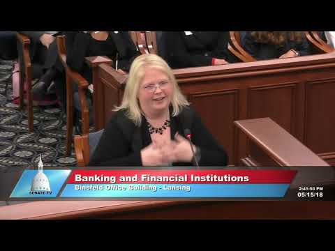 Michigan Senate Banking Committee 5-15-2018