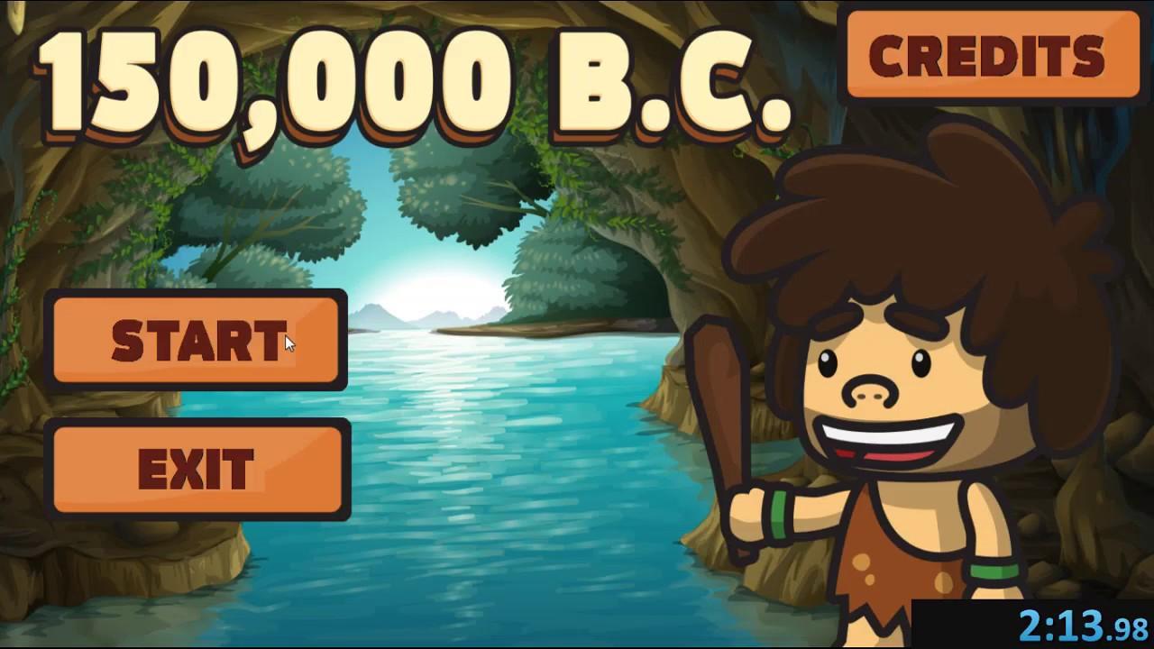 150,000 B.C. Speedrun All Levels on 2:13.98