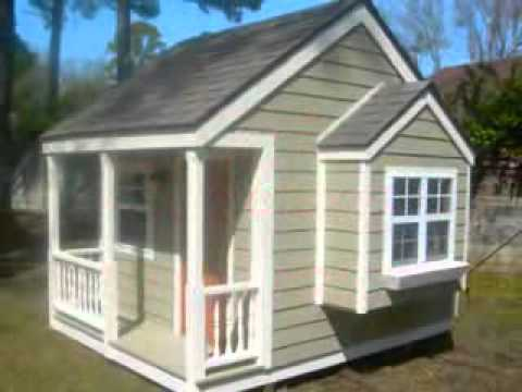 building kids playhouse - YouTube