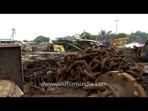 Alang ship breaking yard in Bhavnagar district of Gujarat